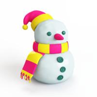 snowman 3d obj