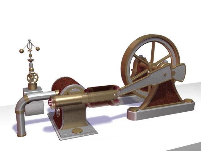 old turbine 3d obj