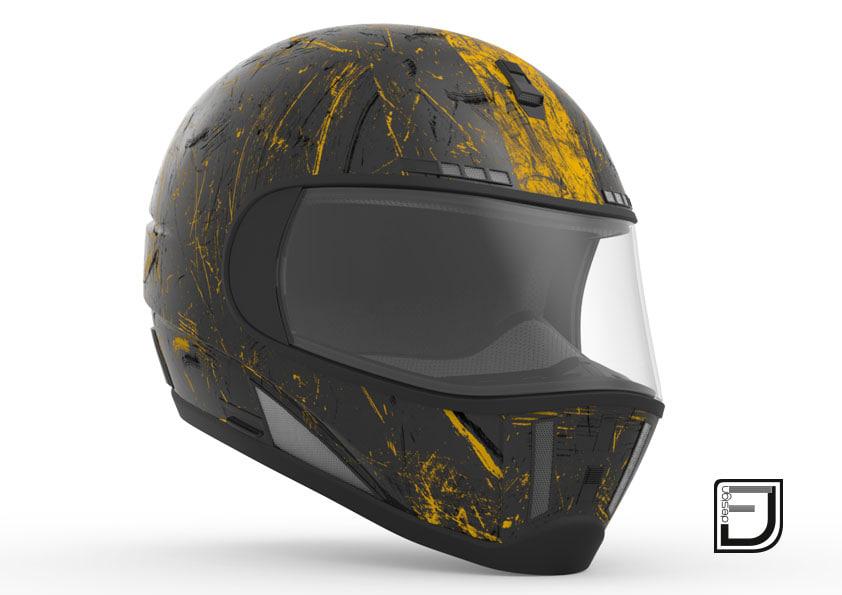 3d model black grunge helmet 04
