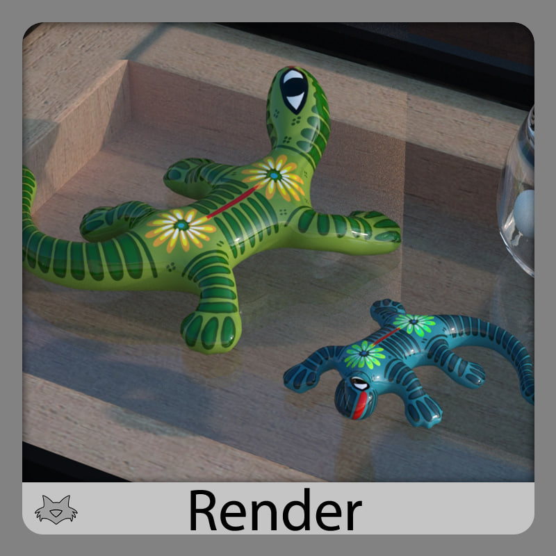 3d lizard craft -