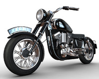 invented motorbike cartoon 3d model