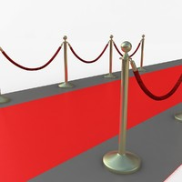 3d model stanchion velvet rope