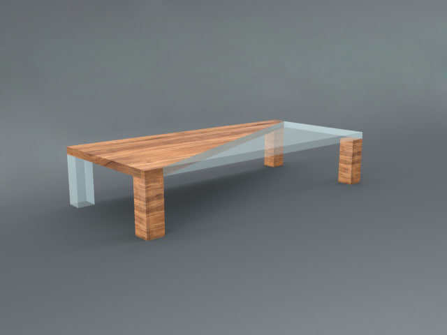 table wooden wood 3d model