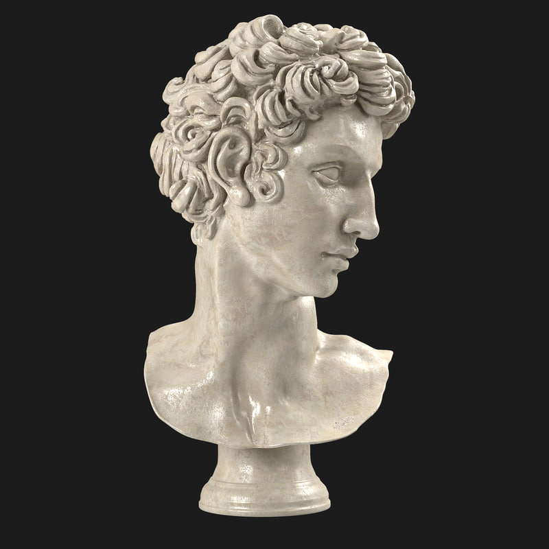 3d model bust giuliano medici