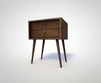 60s nightstand 3d model