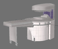 mri machine 3d obj
