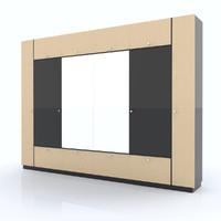 3d model shelf organized