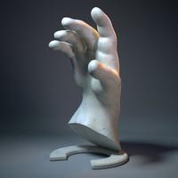 hend sculpture 3d max