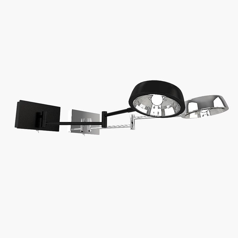 3d searchlight 3863cc wall lamp