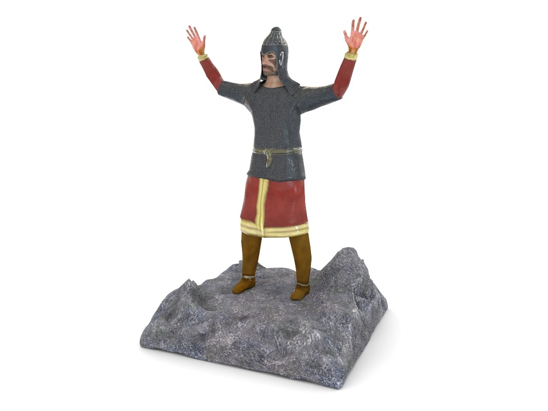 ancient warrior figurines 3d model