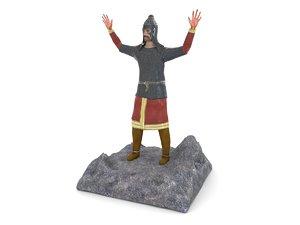 ancient warrior figurines 3d model