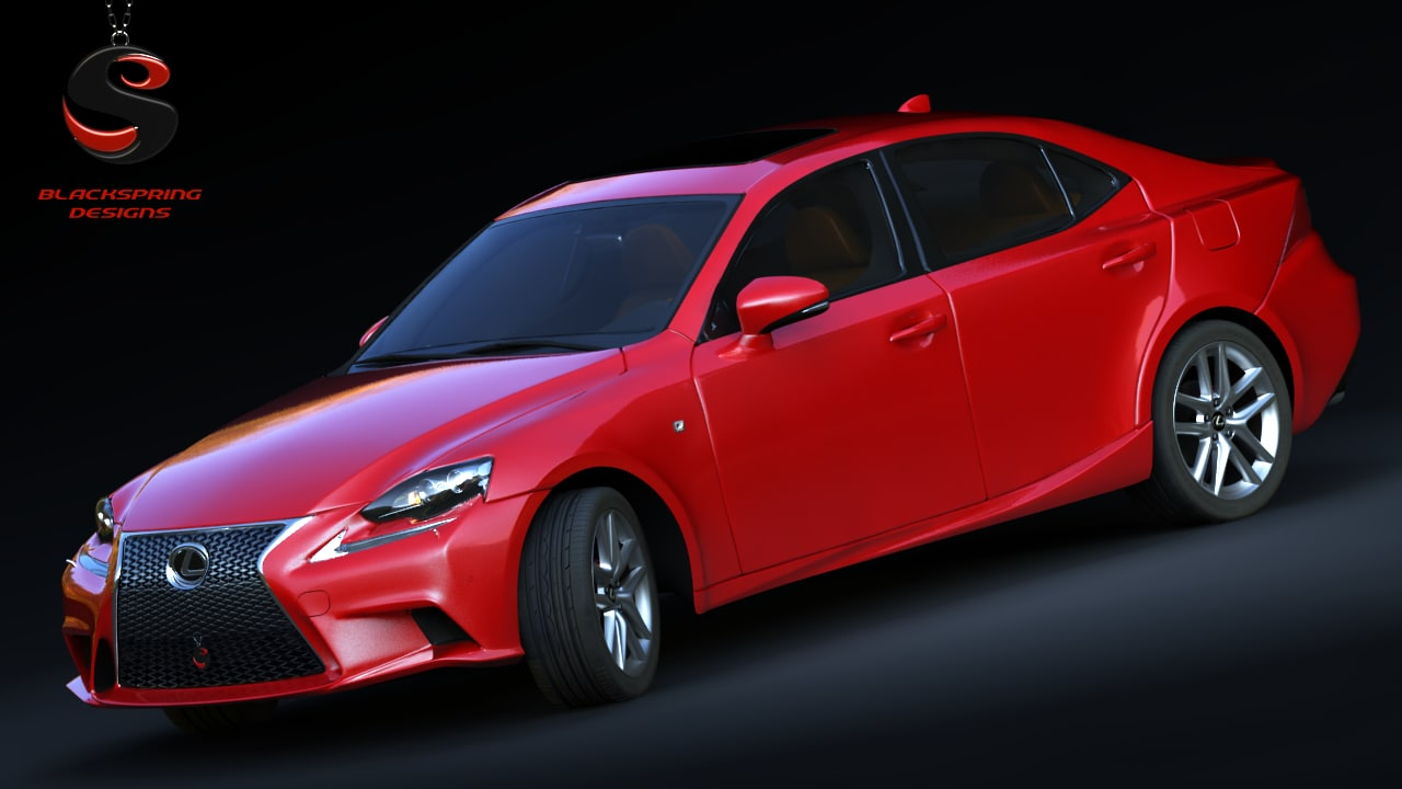 3d lexus 350 f-sport 2014 model