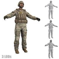 3d soldier 6 model