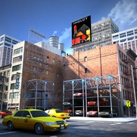 nyc downtown 3d ma