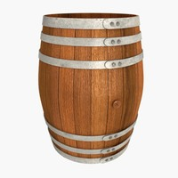 3d wooden barrel wood