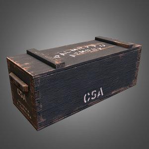 3d civil war crate model