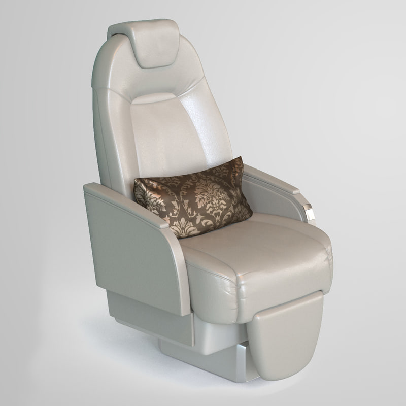 3d model private jet seat