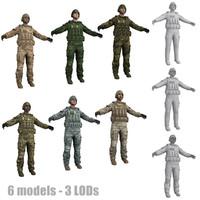 3d max human military