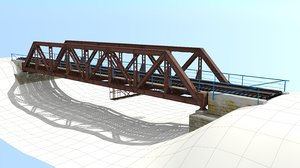 3d bridge river model