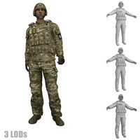 3d max rigged soldier s