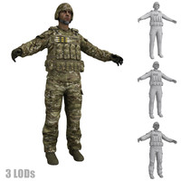 3d human military model