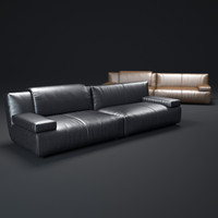 agadir-leather-sofa 3d obj