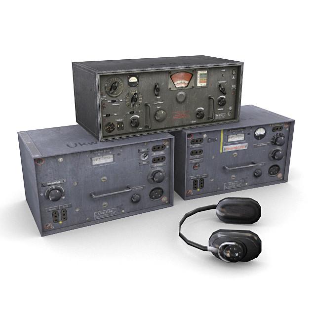 3d german radios model