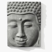 Buddha Javanese Head Relief Panel