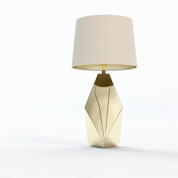 S Max Nate Berkus Gold Table Lamp