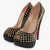 3d model of christian louboutin lady peep
