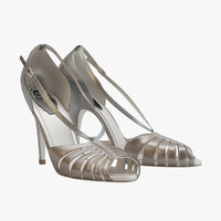 3d model decolletes sandals caovilla