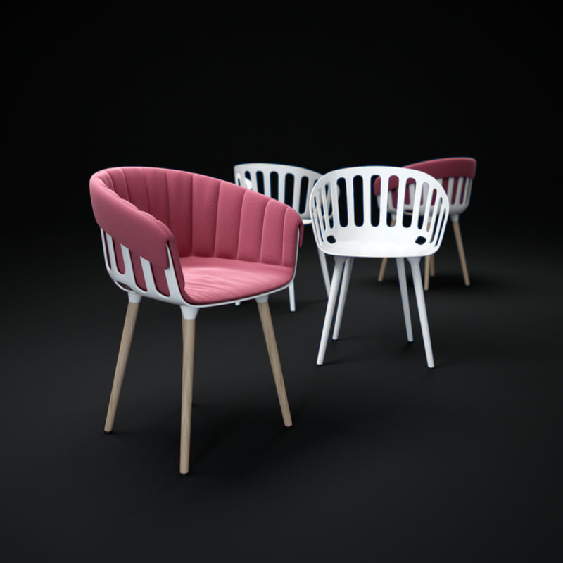 gaber-basket-chair 3d model