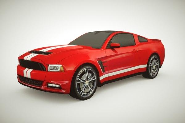 3d model generic muscle-car v1 car