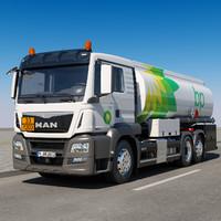 3ds max man tgs tanker truck