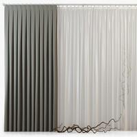 3d model curtains m23