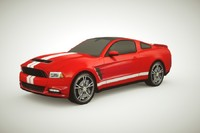 3d model generic muscle-car v1 car