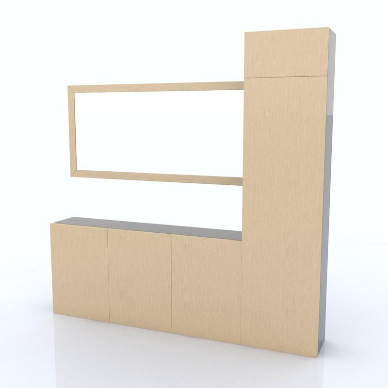 shelf organized 3d obj