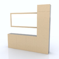 shelf organized 3d obj