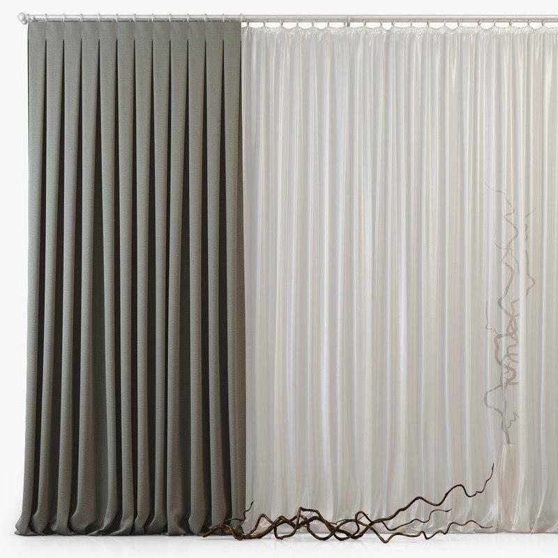 3dsmax curtains m24