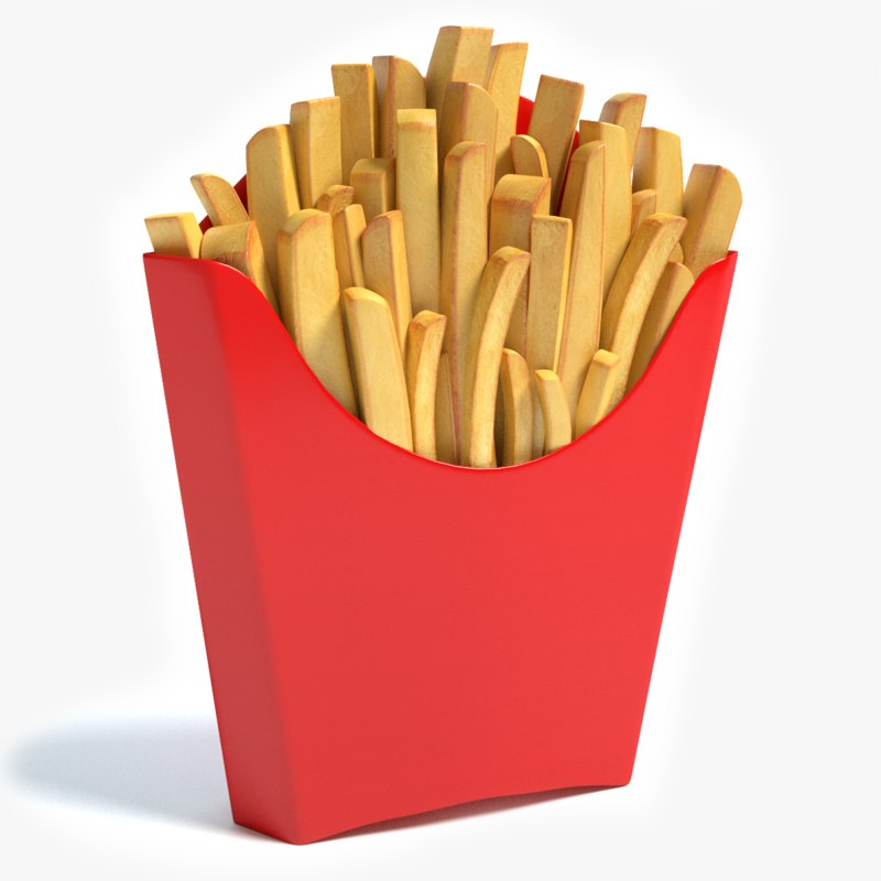 3dsmax french fries