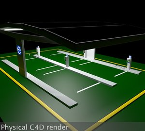 3d electric vehicle car solar panel