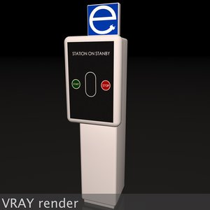 3d model electric vehicle car charging