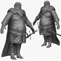 sculpt heavy medieval man 3d model