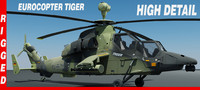 Eurocopter Tiger Rigged