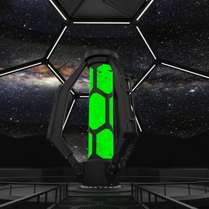 sci-fi interior 3d max