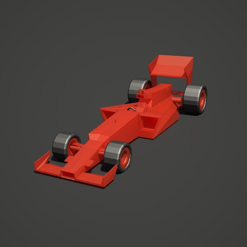 3d f1 car race