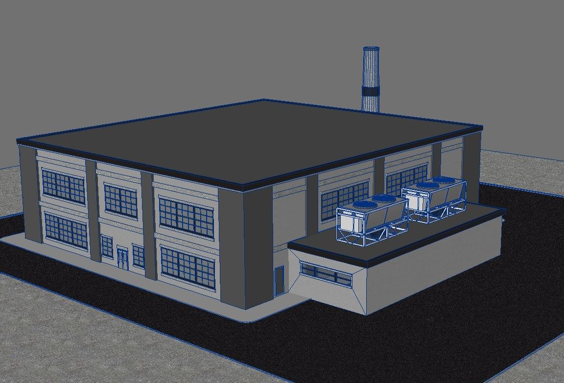3d power plant model