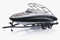 Boat trailer and Yamaha 242 Limited S