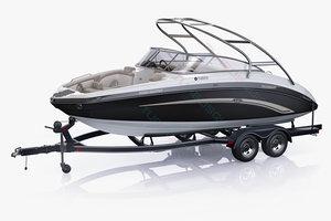 3ds max boat trailer yamaha 242