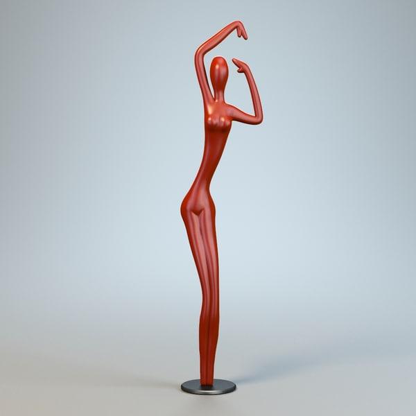 3ds sculpture dance woman